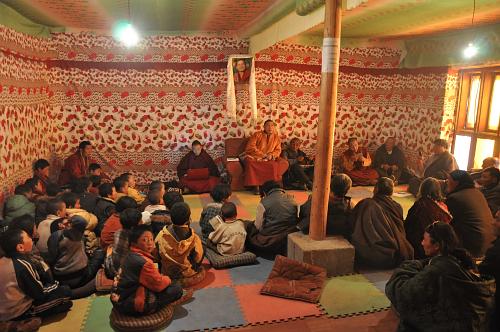 Kilung Children's School Rinpoche teaching DSC_0619